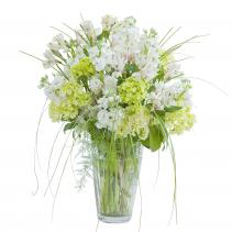 White Elegance Vase Flower Arrangement