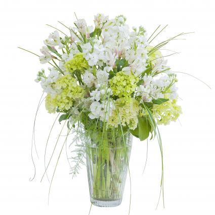 White Elegance Vase Flower Arrangement