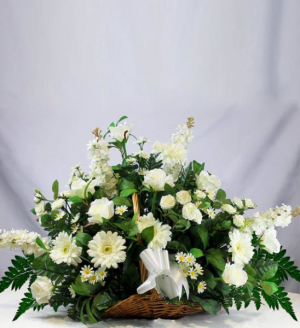 White Farewell Sympathy Arrangement in Nampa, ID | FLOWERS BY MY MICHELLE