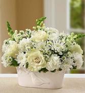 White flower basket sympathy
