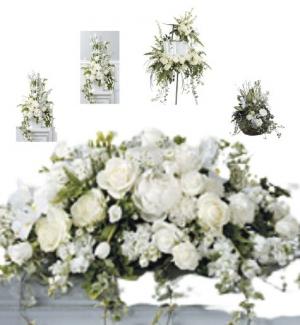 White Funeral Premium 2 Package in Abbotsford, BC | BUCKETS FRESH FLOWER MARKET INC.