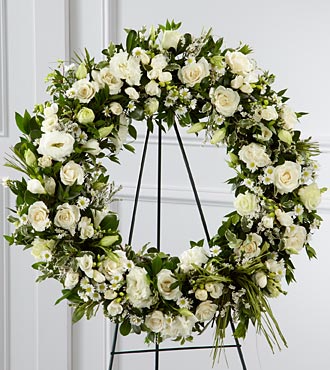 White Funeral Wreath Funeral Flowers