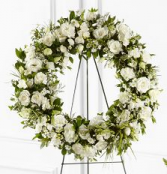 White Funeral Wreath  Wreath