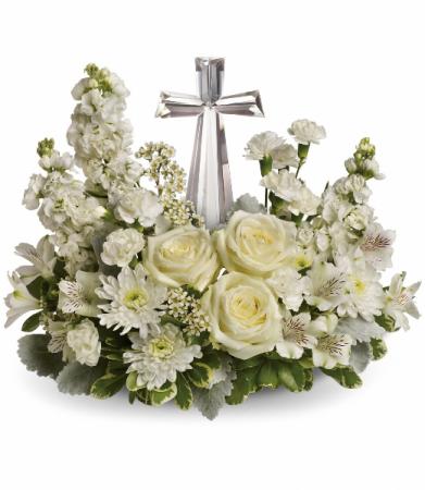 White Garden Cross Cremation