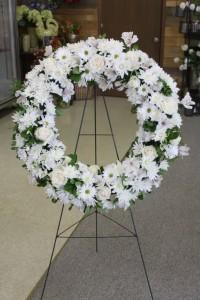 White Garden Flower Wreath  in Decatur, IL | WETHINGTON'S FRESH FLOWERS & GIFTS, INC.