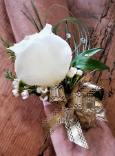 White Gold Corsage