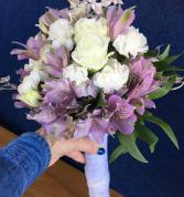 White Gold Lavender  Bouquet