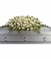 White Grandeur Casket Spray Casket Spray