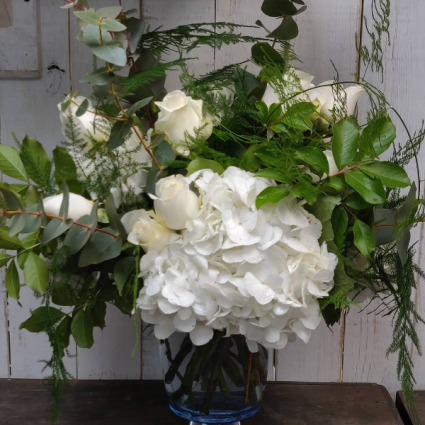 White & Green Vase Custom