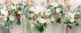 White & Greens Inspired  Wedding Party