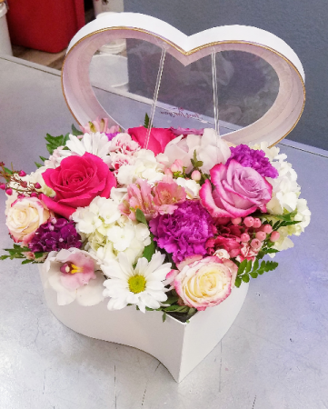 White Heart Box Multi Valentine