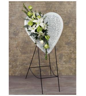 White Heart Easel  in Dearborn, MI | LAMA'S FLORIST