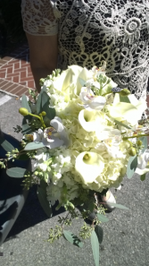 White Hydrangea calla lily bridal