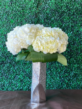 White Hydrangea Center Piece  Wedding Centerpiece