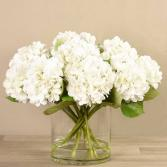 White Hydrangea Flower Arrangement