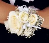 White Ice Roses Wristlet                   TF161-3 Corsage