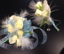 White in Flight Wrist Corsage
