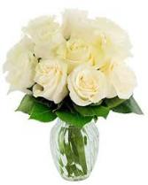 White Innocence  Rose vase