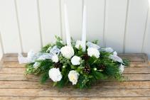 White Light Christmas Centerpiece