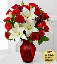 WHITE LILIES AND ROSES VALENTINES