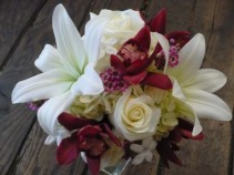 White Lily and Orchid Bride Bouquet