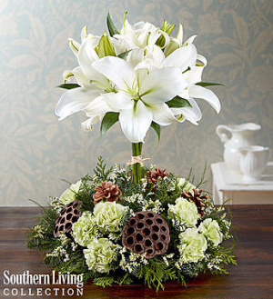 White Lily Topiary by Southern Living™ Arrangement in Croton On Hudson, NY   Cooke's Little Shoppe Of Flowers