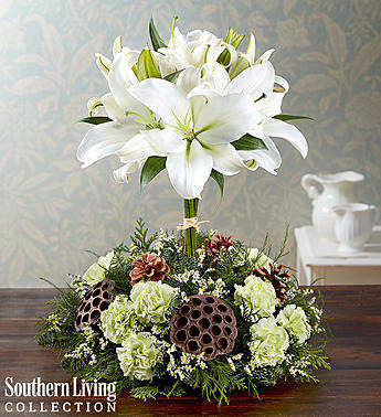 White Lily Topiary by Southern Living™ Arrangement