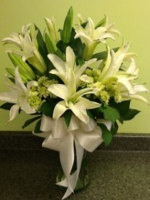 White lillies Vase Arrangement