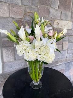 White Lines Flower Arrangement