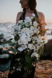 White loose cascading bridal bouquet Bridal bouquet