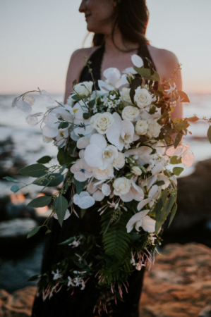 White loose cascading bridal bouquet Bridal bouquet in Tillamook, OR | ANDERSON FLORIST