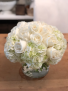 White lovers Hydrangea and rose