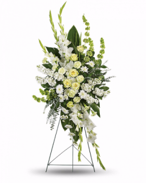 White Magnificance Standing Spray in Redlands, CA | REDLAND'S BOUQUET FLORIST & MORE