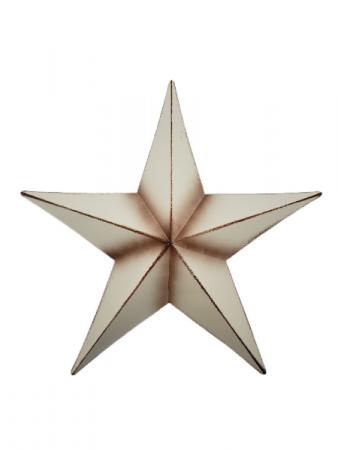 White Metal Star