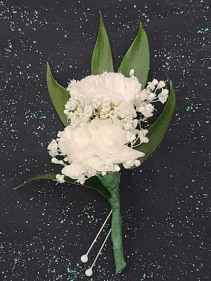 White Mini Carnations Wrist Corsage FHF-901 ****Pick Up Only****