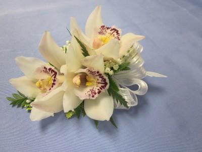 White Mini Cymbidium Orchid Corsage Wrist Corsage 25 00 In