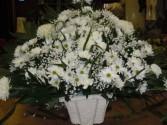 White Mix (TB 11) Funeral Basket