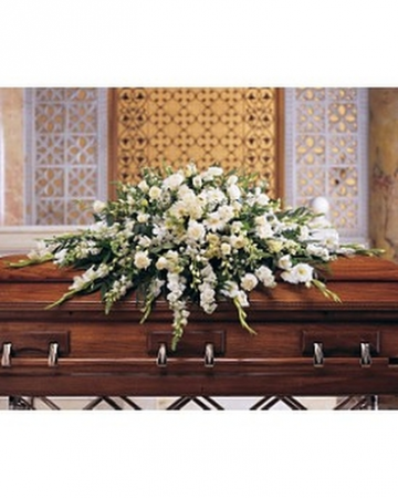 White Mixed Casket Spray Casket Spray
