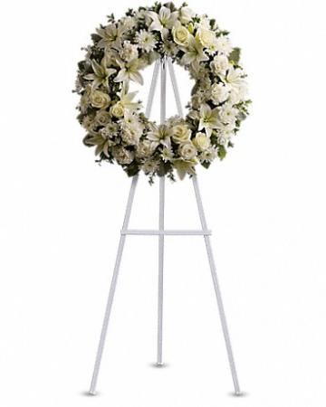 White mixed sympathy wreath Funeral Wreath