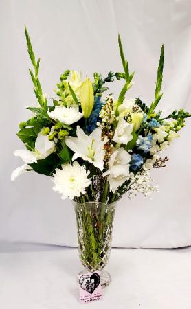 White Multi Vase Just Because