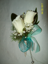 White Oceans Prom Boutonniere