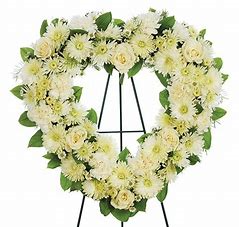 white open heart funeral