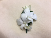 White Orchid Boutonniere