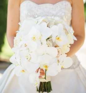 White Orchid  Cascade Bridal Bouquet