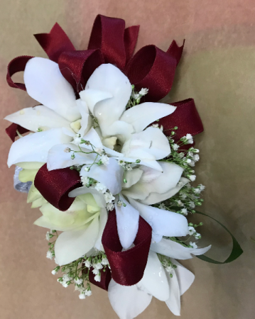 White Orchid Corsage  Prom