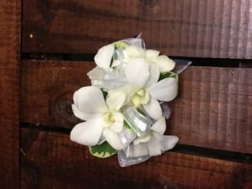 White Orchid Corsage Wrist Corsage