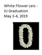 White Orchid Flower Leis Floral Lei