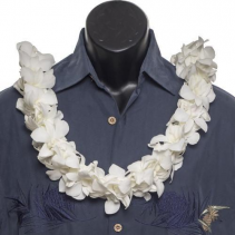 White Orchid Lei * Double Strung ** Local Pick Up or Delivery only ** Call for availability **
