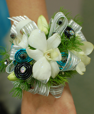 White Orchid Prom Corsage Prom Flowers in Port Dover, ON | Upsy Daisy Floral Studio