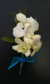 White Orchid Too Boutonniere